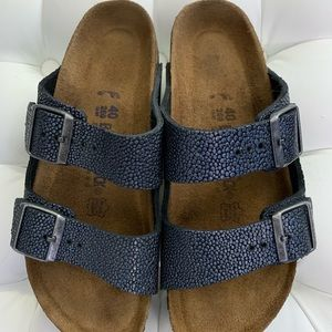Birkenstock Arizona metallic stone 40N